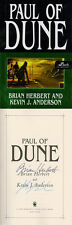 Brian Herbert & Kevin J. Anderson DUAL SIGNED AUTOGRAPHED Paul of Dune HC 1st