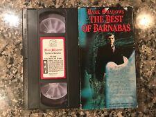 Dark Shadows The Best Of Barnabas Vhs! See) House Of Dark Shadows