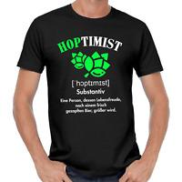HOPTIMIST Bier JGA Spaß Comedy Sprüche Lustig Geschenkidee Party Fun T-Shirt