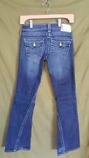True Religion light wash bootcut denim jeans with pearl buttons size 25