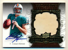 2008 EXQUISITE CHAD HENNE RC ROOKIE PATCH AUTO AUTOGRAPH DOLPHINS RPA SP #24/99
