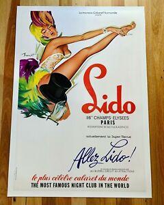Original Vintage Poster LIDO Paris 1970s by Brenot