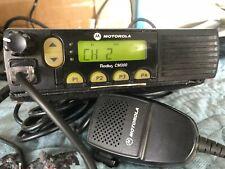 NICE MOTOROLA RADIUS CM 300 UHF RADIO WITH MIC, ANTENNA BASE AND MOUNT