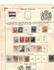 NETHERLAND NEDERLAND HOLLAND OLD COLLECTION OF 19 stamps 1852-1875 cv 181(mb10