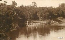 1908 WALHALLA NORTH DAKOTA Pembina County Waterfont REAL PHOTO RPPC 5253