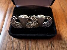 U.S Military Army Paratrooper Jump Wings Cufflinks With Jewelry Box 1 Set Boxed