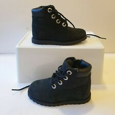 Timberland Black Rebotl Lace Zip Boots Shoes Toddler Infant UK 5 Great Condition