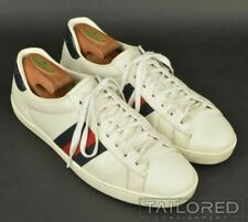 GUCCI White Striped Leather Mens Shoes Sneakers w/ BOX - UK 9 / US 10