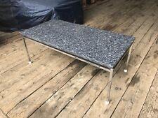 Couchtisch Sofatisch massive schwarz Marmorplatte Chromgestell 140x60x40 NP1499€