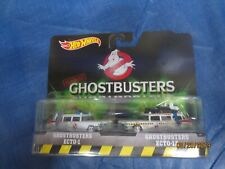 Hot Wheels Classic GHOSTBUSTERS ECTO-1 & ECT0-1A Diecast 2-in-1