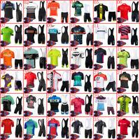 Men Cycling Jersey Set Short Sleeve MTB Jersey Bike Shorts Suit Sportswear L93