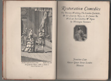 MONTAGUE SUMMERS RESTORATION COMEDIES FIRST LIMITED ED HB NO.243 OF 1000 1921