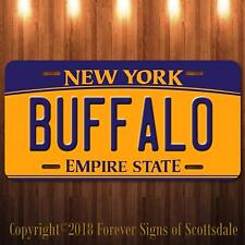 Buffalo New York City/College State University Aluminum License Plate New
