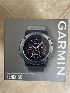 Garmin Fenix 5x 51mm Slate Gray Sapphire with Black Band GPS Watch -...