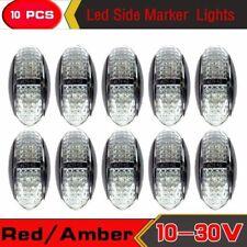 10X 10V-30V RED AMBER CLEARANCE LIGHT SIDE MARKER LIGHTS LED TRAILER TRUCK LAMPS