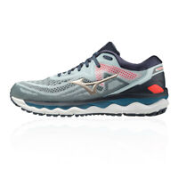 Mizuno Mens Wave Sky 4 Running Shoes Trainers Sneakers Blue Sports Breathable