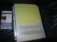 Johnny Unitas Autographed Paper JSA Certified