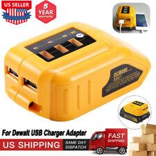 Dcb090 For Dewalt Lithium Slide Battery Usb Converter Adapter Power Charger 20V