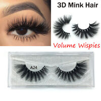 brûlés wispies des faux cils lash extension 3d mink cheveux volume naturel