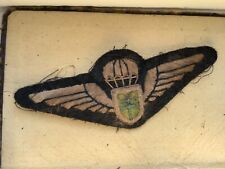More details for free french british airborne qualification jump wings patch , ww2