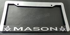 MASON CHROME PLASTIC FRAME outline MASON MASONIC MOSON License Plate Frame