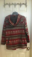 Style & Co. Women's size large Sweater,  Hanging Neck, Aztec print, Long slv