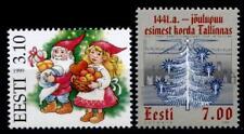 Weihnachten, Zwerge. Weihnachtsbaum im Jahr 1441. 2W. Estland 1999