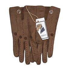 CLASSIC Autohandschuhe Driving Gloves Leder Leather Deerskin Hirsch Braun Brown