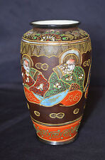 ANTIQUE JAPANESE PORCELAIN SIGNED VASE HAND PAINTED  MORIAGE