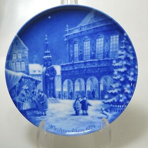 Weihnachtsteller Berlin Design 1974 Bremen limitiert signiert