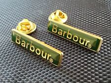Two Traditional Barbour pin badges