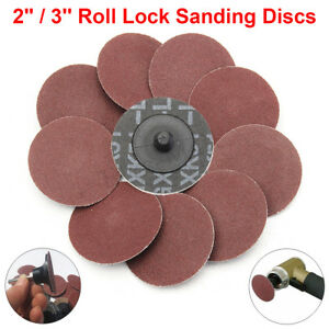 "2""/3"" R Type Discs Roll Lock Grinding Discs 24-320 Grit Sanding Pads Wheel"