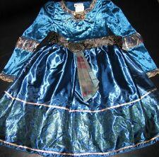 NWT! DISNEY WORLD Princess MERIDA Brave Fancy Dress COSTUME M 7/8