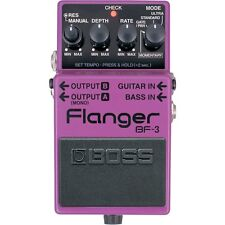 BOSS BF-3 Flanger Ultra Gate Pan Stereo Guitar Bass Stompbox Effects Pedal