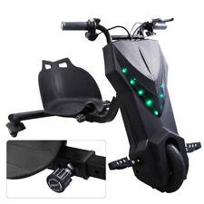 Drift Trike Kinder Drift E Scooter Dreirad 360° Elektro Roller GoKart mit Sattel