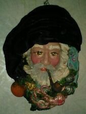 N Caseio Sciacca Italian pottery Old man of the sea wall sculpture mask.