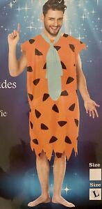 Adult Fred Flintstone Caveman Costume . Size large