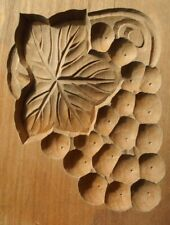 20ksg14 VINTAGE JAPANESE KASHIGATA CAKE MOLD GRAPES GRAPE WOOD HAND CARVED