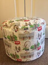 "BEANBAG / POUFFE MADE IN CATH KIDSTON ""LONDON SCENE"" FABRIC - HAND CRAFTED"
