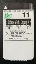 28.September 2000 FC St.Gallen Schweiz - Chelsea London England UEFA CUP