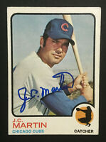 JC Martin Cubs signed 1973 Topps baseball card Semi High #552 Auto Autograph 4