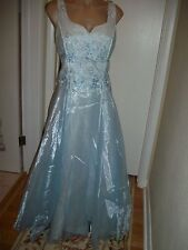 FORMAL DRESS EVENING BALL GOWN PROM PARTY COCTAIL WEDDING BRIDESMAID SIZE 10 WOW