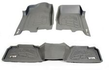 First + Second Row Floor Mats in Gray for 2002 - 2008 Dodge Ram 1500 Mega Cab