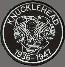 HARLEY DAVIDSON KNUCKLEHEAD EMBROIDERED BIKER PATCH