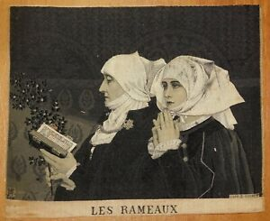 Vintage LES RAMEAUX NEYRET FRERES WOVEN SILK STEVENGRAPH