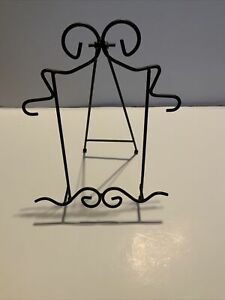"""Decorative Home Decor Table Top Metal Wire Display Easel  Black 10.5"""""""