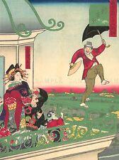 La storia culturale West Abiti japan ombrello ikkei poster art print bb666a