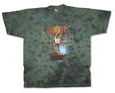 AC/DC STIFF UPPER LIP 2001 TOUR ANGUS DARK GREEN TIE DYE T-SHIRT XXL 2XL NEW