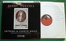 Henry Purcell Anthems & Church Music Ambrosian Singers + ALP 1766 LP