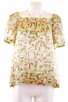 BANANA REPUBLIC Womens Blouse Top Size 16 Large Multi Silk  IJ06